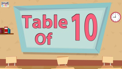 Learn 10x Table Multiplication | 10 Times Table | Learn Ten Multiplication Tables For Kids | English