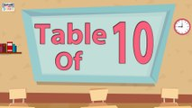 Learn 10x Table Multiplication   10 Times Table   Learn Ten Multiplication Tables For Kids   English