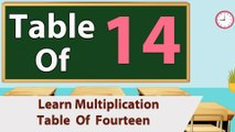 Learn 14x Table Multiplication   14 Times Table   Learn Fourteen Multiplication Tables For Kids