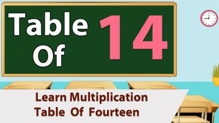 Learn 14x Table Multiplication | 14 Times Table | Learn Fourteen Multiplication Tables For Kids