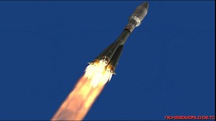 Rocket fly Soyuz