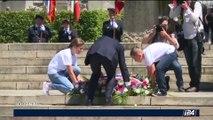 Emmanuel Macron préside les cérémonies du 73ème anniversaire d'Oradour-sur-Glane