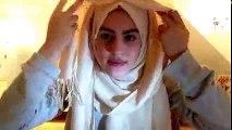 451.Tutorial Hijab, Cara Memakai Jilbab Paris Segi Empat Modern Simple Trendy Terbaru