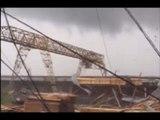 Walking Cranes: Rare tornado rips through Russian city
