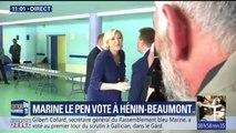 Législatives: Marine Le Pen a voté à Hénin-Beaumont