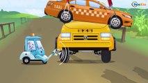 CAMION DE POMPIERS - Dessin animé éducatif. Gros véhicules pour petits enfants!
