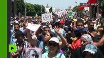 «Libérez les prisonniers» : manifestation anti-gouvernementale à Rabat, au Maroc