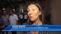 Législatives : La réaction de Karine Berger, candidate PS dans la première circonscription des Hautes-Alpes