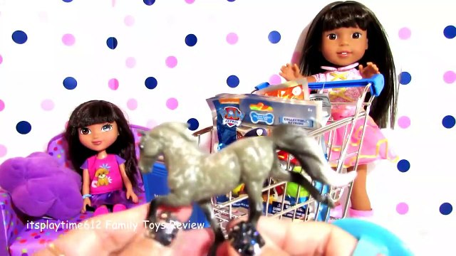 SURPRISE TOYS IN WALMART SHOPPING CART with AG Doll Ashl