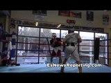 Boxing Champ Gradovich vs BKB Champ Pelos Garcia Sparring - EsNews