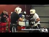BKB Champ Pelos Garcia Sparring Boxing Star Mikey Garcia EsNews