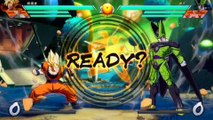 Dragon Ball FIghterz - Demo Gameplay #2 Goku, Gohan, Golden Frieza, vs Majin Boo, Cell, Goku
