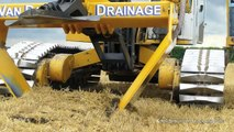 Inter-Drain GP-Series V plow  laying trenchless field drainage