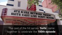 Meghan Markle and the cast of Suits celebrate 100th episode