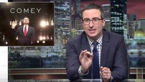 John Oliver Weighs In on Trump's Response to Comey's Testimony | THR News
