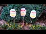 Bricolage de Pâques pour enfant. Un oeuf de Pâques à planter