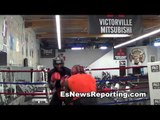 olympic gold winner felix diaz vs thomas dulorme sparring EsNews