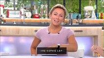 """Anne-Sophie Lapix félicite Anne-Elisabeth Lemoine après sa nomination à la tête de """"C à vous"""": """"Je suis vraiment ravie!"""""""