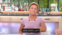 """Anne-Sophie Lapix félicite Anne-Elisabeth Lemoine après sa nomination à la tête de """"C à vous"""" : """"Je suis vraiment ravie"""