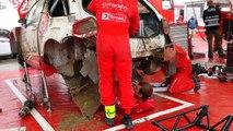 Réparation express en 30min d'une voiture de rallye explosée !