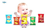 Bad Baby crying and learn colors-Colorful Chips Lays vs Superman- Finger Famil