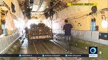Russian Il-76 airdrops humanitarian aid over Deir ez-Zor