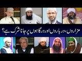 MAZAR PAR JANA- Zakir Naik - Tahir ul Qadri - Javed Gamdi - Ilyas Qadri - Tariq Jameel - Peer Naser