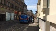 Fuite de gaz rue Desrivières