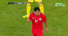 Gary Medel RED CARD HD - Romania 1-2 Chile 13.06.2017