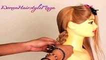 Wedding Bridal Looped Braid Updo Hairstyle - Indian Bridal Hairstyle for Medium Hair