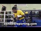 Full Intense Manny Pacquiao Workout - esnews boxing pacquiao vs algieri