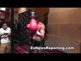 manny pacquiao vs chris algieri workout vs workout EsNews boxing