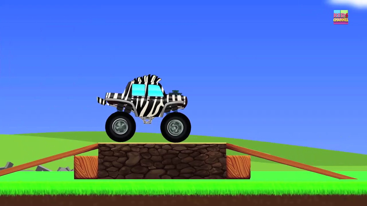 Monster Trucks _ Zebra Trucks _ Car