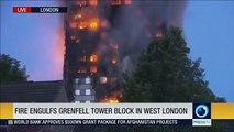 Massive fire engulfs Grenfell tower block in West London