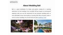 Find Your Destination Weddings - Bali from Great Destination Weddings