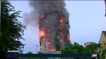 Incendie à Londres : Au moins 30 blessés
