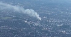 Plume of Smoke Thrown Up by London Tower Fire Captured From the Air