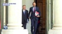 François Bayrou et Edouard Philippe sortent côte à côte du Conseil des ministres