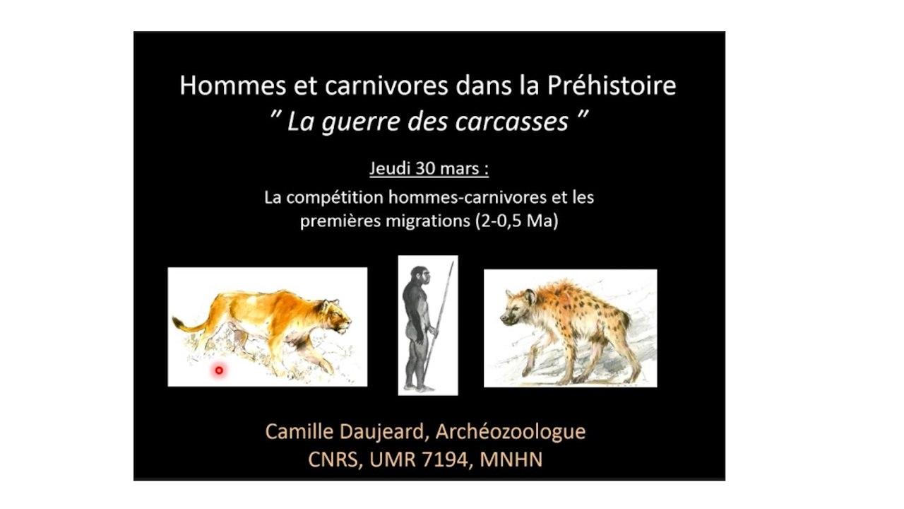 La compétition hommes-carnivores et les premières migrations (2-0,5Ma) - La Guerre des carcasses (2/3)