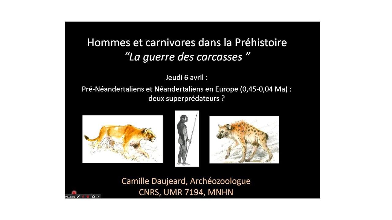 Pré-néandertaliens et néandertaliens en europe (0,5-0,04 Ma) : deux superprédateurs ? - La Guerre des carcasses (3/3)