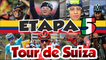 Etapa 5 del Tour Suiza 2017 - Último km -Damiano Caruso Líder