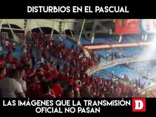 Disturbios en el Pascual. Las imágenes que la transmisión oficial no pasan