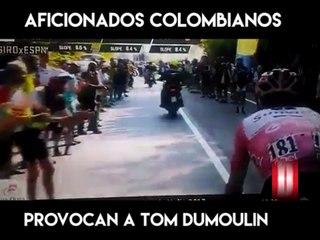 Aficionados colombianos provocan a Tom Dumoulin