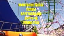 MONTAGNE RUSSE TRAVEL SPETTACOLARE GoPro 4k PRIMA FILA ADRENALINA