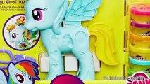 Tiret petit mon Nouveau jouer poney arc en ciel jouets Doh style salon plastilina salón playdough dctc