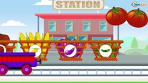 Learn with the Train: Kids Cartoon about Cars & Trains - Learn Numbers & Shapes - Trains cartoons