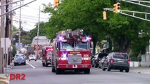 Clifton Fire Department Rare Rescue 1 And Ladder 3 Responding