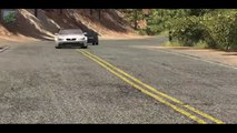 Beamng drive - Rockfall Crashes #2 (with real sounds, rock slides cras