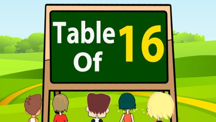 16 Times Table Multiplication | Learn 16x Table | Learn Sixteen Multiplication Tables For Kids