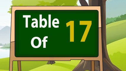 17 Times Table Multiplication | Learn 17x Table | Learn Seventeen Multiplication Tables For Kids